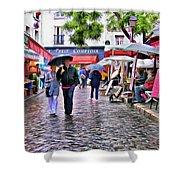 Tourists - Paris - Place Du Tertre Shower Curtain