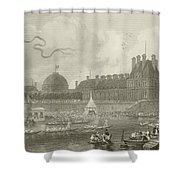 Tournay On The Seine During The July Fetes Shower Curtain