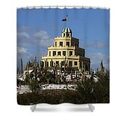 Tovrea's Castle Phoenix Shower Curtain