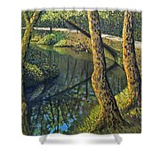 Tow Path Shower Curtain