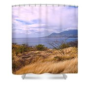 Towards Basseterre Shower Curtain