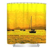 Towards Nevis Shower Curtain