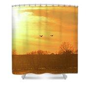Towards Sunset Shower Curtain