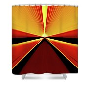 Towards The Streaking Sunrise Shower Curtain