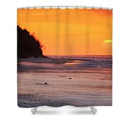 Towards The Sunset Shower Curtain