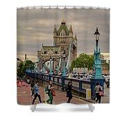 Towards Tower Bridge, London  Shower Curtain
