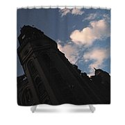 Tower And Clouds Shower Curtain