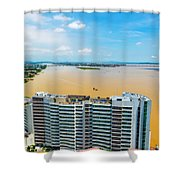 Tower And Guayas River Shower Curtain