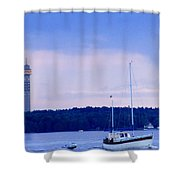 Tower And Masts Shower Curtain