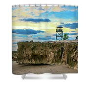 Tower And Rocks Shower Curtain