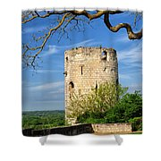 Tower At Chateau De Chinon Shower Curtain