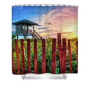 Tower At The Dunes Shower Curtain