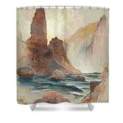 Tower At Tower Falls, Yellowstone Shower Curtain