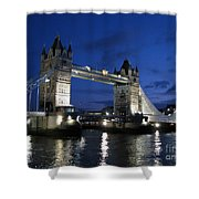 Tower Bridge Shower Curtain by Amanda Barcon