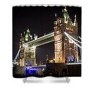 Tower Bridge At Night Shower Curtain