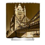 Tower Bridge In Sepia Shower Curtain