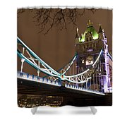 Tower Bridge Lights Shower Curtain