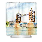 Tower Bridge London Shower Curtain