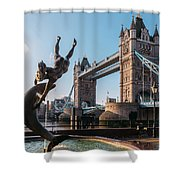 Tower Bridge, London, Uk Shower Curtain