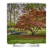 Tower Grove Arched Bridge And Maple Tree Dsc01828 Shower Curtain