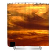 Tower In Sunset Shower Curtain
