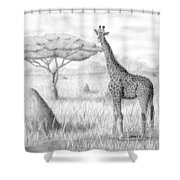 Tower In The Bush Shower Curtain