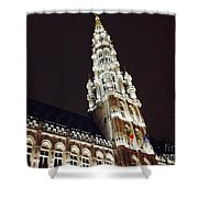 Brussels Tower Light Shower Curtain