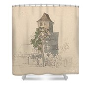 Tower Of A Fortified House [recto] Shower Curtain