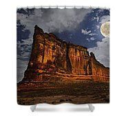 The Midnight Tower Shower Curtain