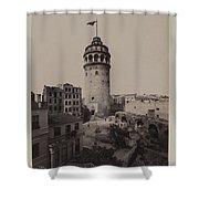 Tower Of Galata,  Shower Curtain