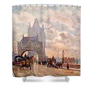 Tower Of London Bridge Shower Curtain