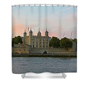 Tower Of London On The Thames Shower Curtain