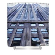 Tower Of Steel And Stone Shower Curtain