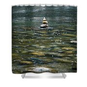 Tower Of Stones Shower Curtain