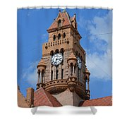 Tower Of The Decatur Courthouse  Shower Curtain
