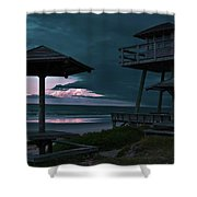 Tower Over The Shoreline Shower Curtain