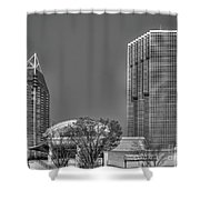 Tower Place Stripped Buckhead Atlanta Art Shower Curtain
