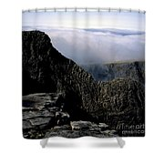 Tower Ridge From Ben Nevis Summit Fort William Lochaber Invernesshire Scotland Shower Curtain