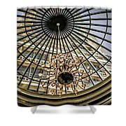 Tower Through Glass Dome In Bellagio Ceiling Shower Curtain