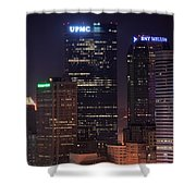 Towering Buildings Of Pittsburgh Shower Curtain