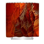 Towering Fiery Walls Shower Curtain