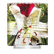 Towering Lily And Rose Shower Curtain