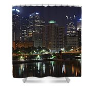 Towering Over The River Shower Curtain