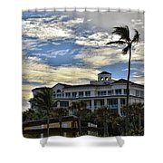Towering Palm Shower Curtain