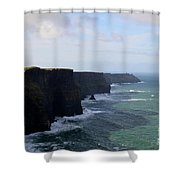 Towering Sea Cliffs In Ireland's County Clare Shower Curtain