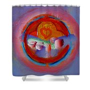 Towers In The Mist Shower Curtain
