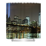 Towers Of Light Shower Curtain