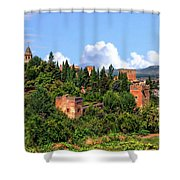 Towers Of The Alhambra Shower Curtain