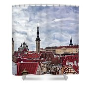 Towers Of The Tallinn Old Town Shower Curtain