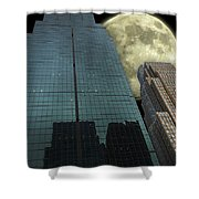 Towers To The Moon Shower Curtain
